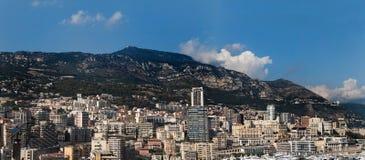 摩纳哥全景 免版税库存图片