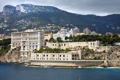 摩纳哥博物馆水视图  库存图片