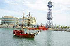 摩纳哥口岸赫丘勒小游艇船坞 最美丽的游艇在摩纳哥 库存照片