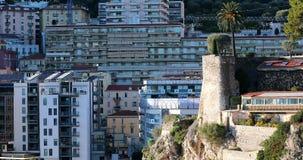 摩纳哥在山小山的不动产建筑学 股票视频