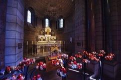 摩纳哥大教堂内部 免版税库存图片