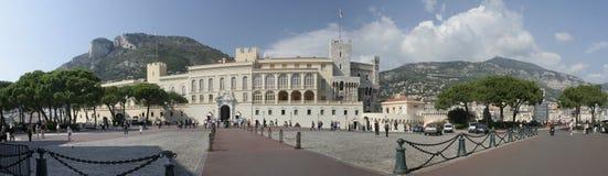 摩纳哥宫殿全景 免版税库存图片