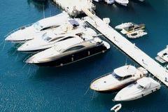 摩纳哥小游艇船坞 库存照片