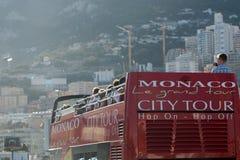摩纳哥市教育旅行公共汽车 免版税库存图片