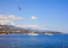 摩纳哥海边 图库摄影
