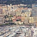 摩纳哥港口,蒙地卡罗,看法 免版税库存图片