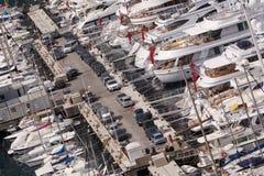 摩纳哥游艇 免版税库存图片