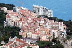 摩纳哥的海洋学博物馆的鸟瞰图 库存照片