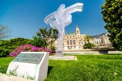 摩纳哥的芭蕾舞女演员纪念碑 库存图片