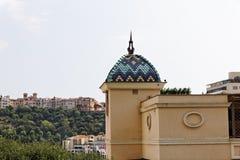 摩纳哥,美丽的大厦,法国海滨 库存图片