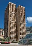 摩纳哥-城市的建筑学 免版税库存图片