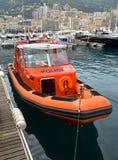 摩纳哥-警察汽艇 免版税库存图片