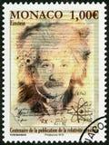 摩纳哥- 2015年:展示阿尔伯特・爱因斯坦1879-1955,物理学家 免版税库存照片