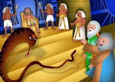 摩西和亚伦在法老王前 免版税图库摄影