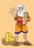摩西和规范石头 免版税库存图片