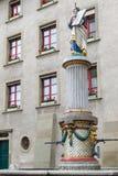摩西喷泉, Munsterplatz,伯尔尼 库存图片