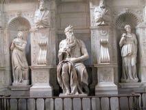 摩西雕塑米开朗基罗,圣彼得罗在Vincoli罗马 库存图片