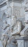 摩西雕象在罗马 图库摄影