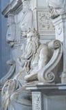 摩西雕象在罗马 库存图片