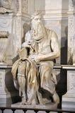 摩西雕象米开朗基罗在圣彼得罗教会里V的 免版税库存图片