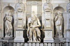 摩西雕象米开朗基罗在圣彼得罗教会里V的 库存图片