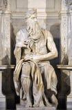 摩西雕象米开朗基罗在圣彼得罗教会里V的 库存照片