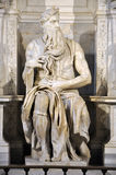 摩西雕象米开朗基罗在圣彼得罗教会里V的 免版税库存照片