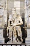 摩西雕象米开朗基罗在圣彼得罗教会里V的 免版税图库摄影