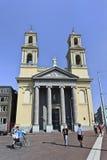 摩西&亚伦教会在阿姆斯特丹中心,荷兰 库存图片