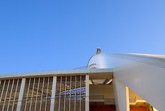 摩西・马布海达体育场曲拱 库存图片
