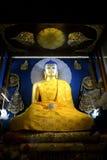 摩诃菩提寺的金黄菩萨 图库摄影