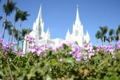 摩门教堂在圣地亚哥 免版税库存照片