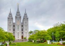 摩门教堂在盐湖城, UT 免版税库存照片