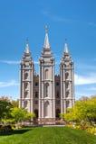 摩门教堂在盐湖城, UT 库存照片