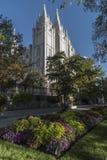 摩门教堂,圣殿广场,盐湖城 库存照片