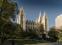 摩门教堂,圣殿广场,盐湖城 库存图片