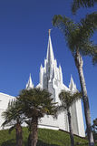 摩门教堂-圣地亚哥加利福尼亚寺庙 库存照片