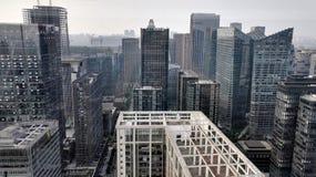 摩顿大厦在成都 免版税库存图片
