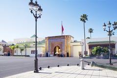 摩洛哥。拉巴特。王宫。 免版税库存照片