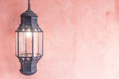 摩洛哥光灯笼 免版税库存图片