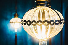 摩洛哥光灯笼 库存照片