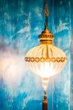 摩洛哥光灯笼 免版税库存照片
