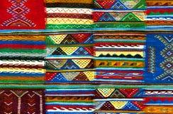 摩洛哥地毯背景 免版税库存照片