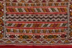 摩洛哥地毯,特写镜头 库存照片