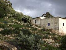 摩洛哥房子在伊夫兰 免版税库存照片
