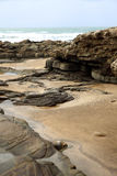 摩洛哥海岸在Dar Bouazza 库存图片