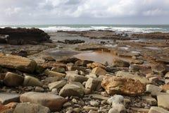摩洛哥海岸在Dar Bouazza 库存照片