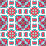 从摩洛哥瓦片,装饰品的华美的无缝的补缀品样式 库存照片