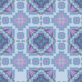 从摩洛哥瓦片,装饰品的华美的无缝的补缀品样式 库存图片