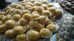 摩洛哥甜扁桃酥皮点心 免版税库存图片